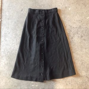 Vintage 1960's/70's button down A-line midi skirt